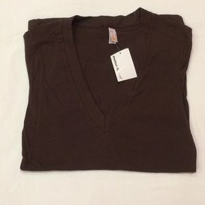 NWT American Apparel brown tee